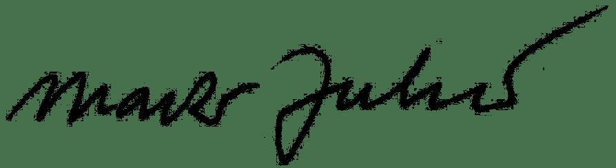 Marko Juhant podpis